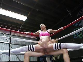 Boxing Brunette Fucks in the Ring