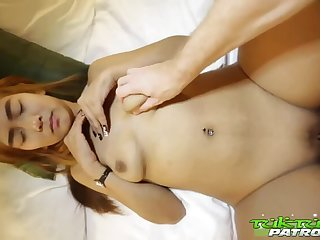 Shy Thai Bimbo with Colored Hair Enjoys Sexual connection