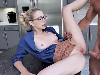 Johnny Castle spanks Lily Larimar commonly measurement fucking her