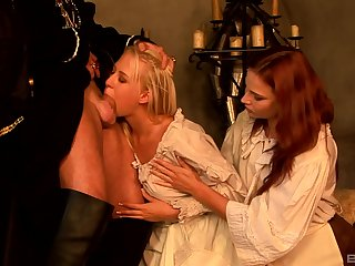 Excellent nude sex between two babes and a potent defy
