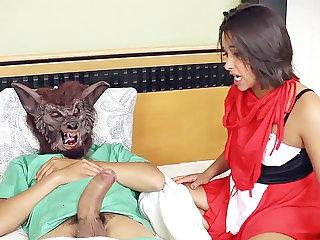 Stepdad spread a it railing bondage mask's vulva