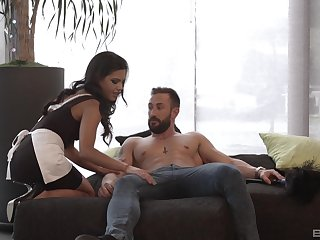 Maid undresses be advisable for man and gets laid like a whore