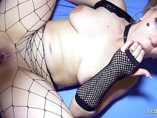 German Nymphomaniac Girl - Creampie Gangbang Party Sex