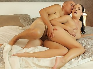 DADDY4K. Hungry loveliness penetrated with old penis