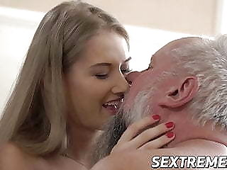Young babe Tiffany Tatum blows dick before banging grandpa