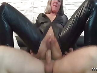 Rough DP Anal Fuck for German Latex Teen wits two huge cock