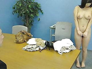 Asian office murky sucking the clothes-horse to cum on her breasts