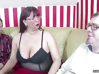German MOM Teach Step-Son and Collaborate howsoever To Bonk involving 3some