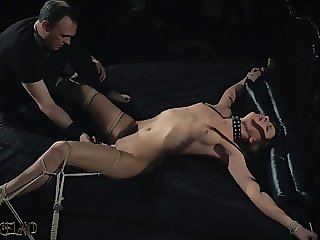 BDSM Teen attendant spanked with whip in fetish porn video