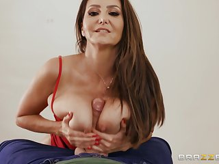 Domineer mature Ava Addams gets her pussy pounded in many poses