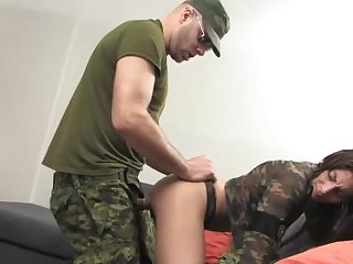 A staggering army sex play for the new caddets