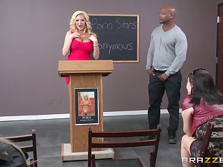 Interracial office sex respecting big white cooky Summer Brielle increased by a BBC