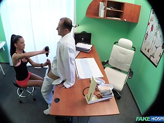 Hidden camera in the doctors slot records sex with a patient