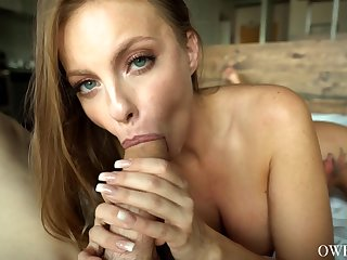 All tattooed stud properly licks and fucks inviting wet pussy of Britney Amber