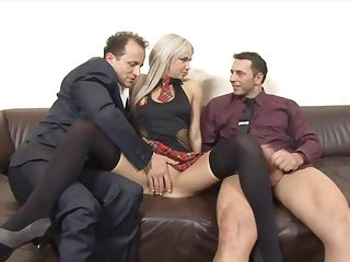 Huband shares his cock hungry beauteous wife Liana with his boss