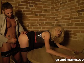 Old whore Snejanna is fucked by hot blooded young client