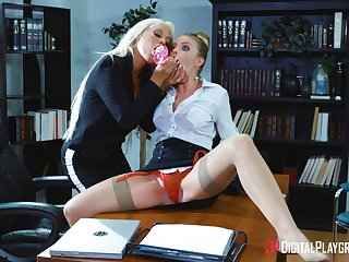 Professional ladies Bridgette B. and Britney Amber hook up at hand the workplace